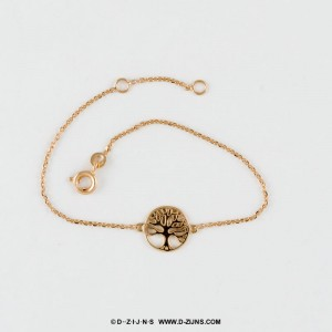 D-ZIJNS armband gold plated met tree of life