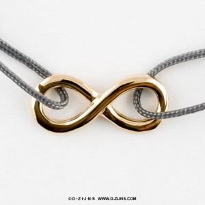 "Satin rope gold plated ""infinity"""